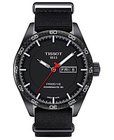 LIMITED EDITION Tissot Swiss T-Sport Powermatic 80 Black Fabric Strap Watch 42mm, Created for Macy's