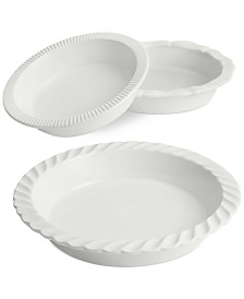 Martha Stewart Collection Core Pie Dishes, Set of 3, Created for Macy's