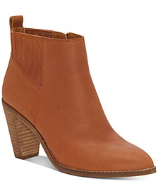 Women's Nesly Heeled Leather Booties