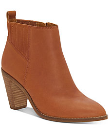 Lucky Brand Women's Nesly Heeled Leather Booties