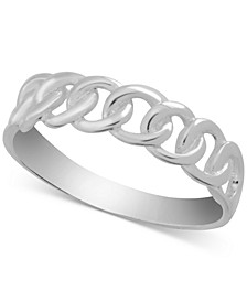 Linked Ring in Fine Silver-Plate