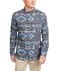 Men's Geometric Rancher Shirt, Created For Macy's