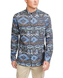 Men's Geometric Rancher Shirt, Created For Macy's