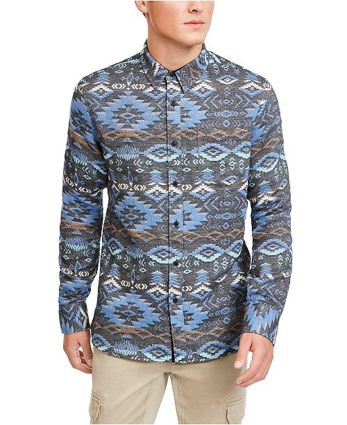 American Rag Men's Geometric Rancher Shirt, Created For Macy's