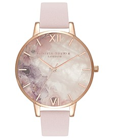 Women's Blossom Leather Strap Watch 38mm