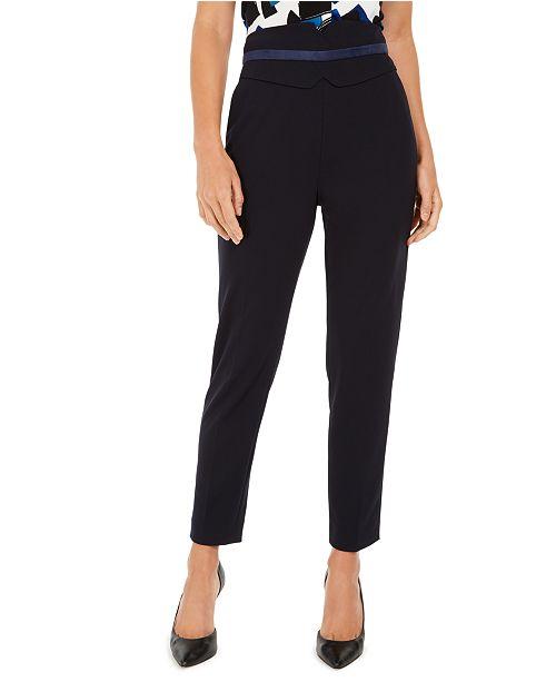 Calvin Klein High-Waisted Tuxedo Pants