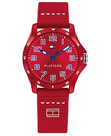 Tommy Hilfiger Kid's Red Silicone Strap Watch 32mm, Created for Macys