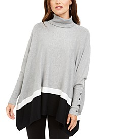 Colorblocked Poncho Sweater, Created For Macy's