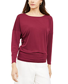 Alfani Boat-Neck Dolman-Sleeve Top, Created for Macy's