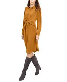 Alfani Petite Tie-Front Shirt Dress, Created for Macy's