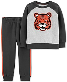 Baby Boys 2-Pc. Cotton Tiger Sweatshirt & Jogger Pants Set