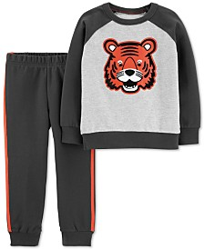 Carter's Baby Boys 2-Pc. Cotton Tiger Sweatshirt & Jogger Pants Set