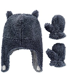 Baby Boys 3-Pc. Fleece Hat & Mittens Set