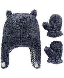 Carter's Baby Boys 3-Pc. Fleece Hat & Mittens Set