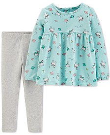 Carter's Baby Girls 2-Pc. Pegasus Tunic & Leggings Set