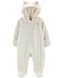 Baby Boys & Girls Faux-Fur-Lined Hooded Quilted Bunting