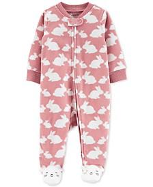 Carter's Baby Girls Fleece Bunny Coverall