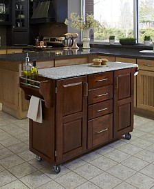 Home Styles Create-A-Cart Warm Oak Finish Salt and Pepper Granite Top