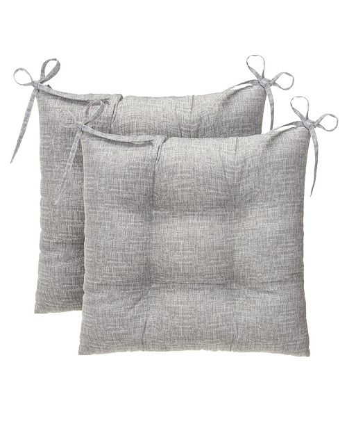 EF Home Decor EF Home Decor Indoor/Outdoor Reversible Tufted Oversized Sq. Chair Cushion 2 Pack