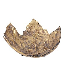 Antique Gold Maple Leaf Tray- Small
