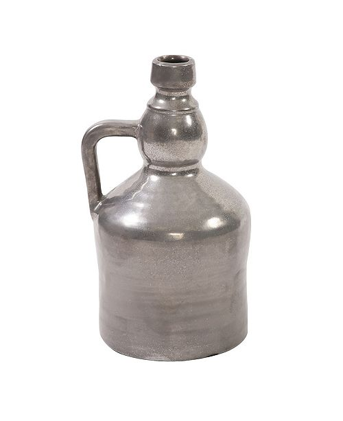 Howard Elliott Antiqued Silver Handled Jug