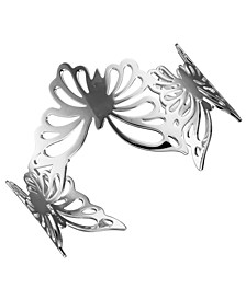 Butterfly Cuff Bracelet in Sterling Silver