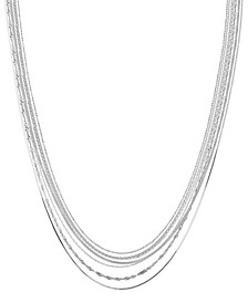 Multi-Chain Sterling Silver Necklace