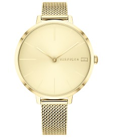 Tommy Hilfiger Women's Gold-Tone Stainless Steel Mesh Bracelet Watch 38mm, Created for Macys