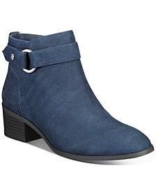 Putneyy Memory Foam Block-Heel Booties, Created for Macy's