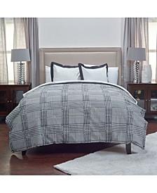 Houndstooth King 3 Piece Comforter Set