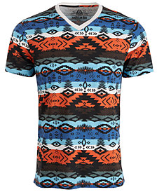 American Rag Men's Southwestern Striped T-Shirt, Created For Macy's