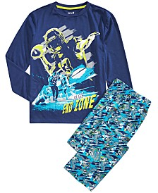 Max & Olivia Big Boys 2-Pc. End Zone Pajama Set