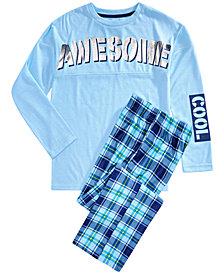 Max & Olivia Big Boys 2-Pc. Awesome Pajama Set