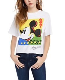 Mighty Fine Juniors' Cotton Mickey Mouse Graphic-Print T-Shirt