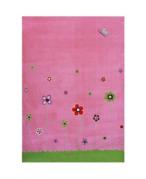 "IVI ESTA Pink Soft Nursery Rug with a Playful Design - 72""L x 53""W Playmat"