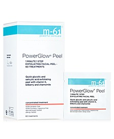 PowerGlow Peel 1 Minute 1-Step Exfoliating Facial Peel – 60 Treatments