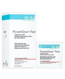 PowerGlow Peel 1 Minute 1-Step Exfoliating Facial Peel – 60 Treatments