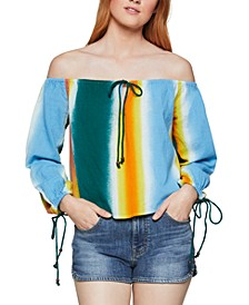 Tie-Dyed Off-The-Shoulder Top