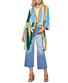 Cotton Tie-Dyed Cover-Up Jacket