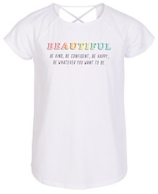 Big Girls Graphic-Print Cross-Back T-Shirt, Created for Macy's
