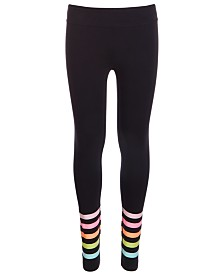 Ideology Big Girls Striped-Hem Leggings, Created For Macy's