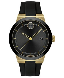 Movado Men's Swiss Bold Black Silicone Strap Watch 42mm