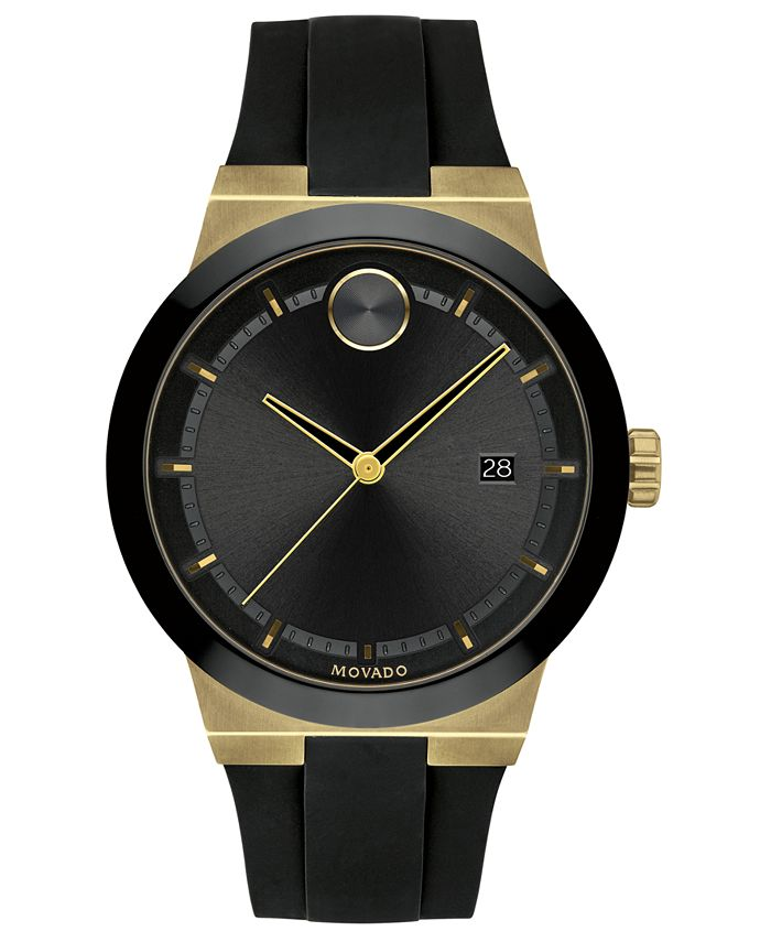 Movado - Men's Swiss Bold Black Silicone Strap Watch 42mm