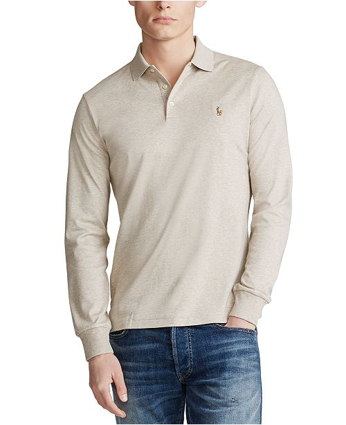 Polo Ralph Lauren Men's Big & Tall Classic Fit Soft Touch Long-Sleeve Polo Shirt