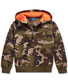 Polo Ralph Lauren Little Boys Camo Fleece Hooded Sweatshirt