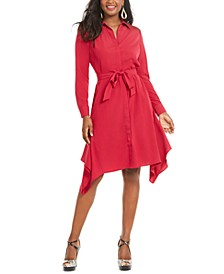 Handerkerchief-Hem Shirtdress, Created for Macy's