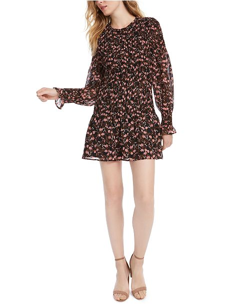 LEYDEN Smocked Printed Dress