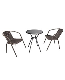 Westin Furniture 3-Piece Outdoor Bistro Set