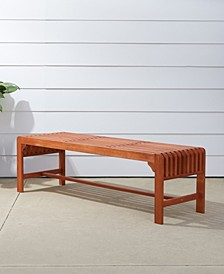 Malibu Outdoor Patio Wood Backless Garden Bench