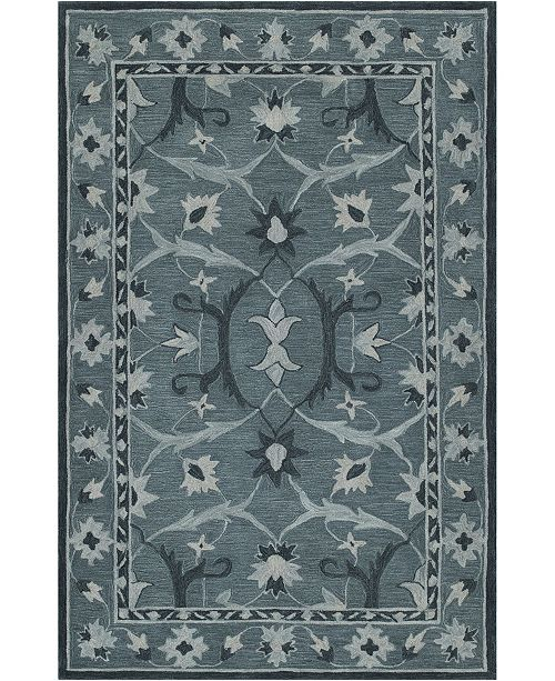 D Style CLOSEOUT! Torrey Tor6 Slate 8' X 10' Area Rugs